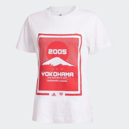 Camiseta São Paulo 2005 Yokohama Adidas Feminina