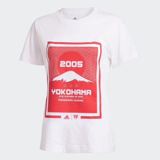 Camiseta São Paulo 2005 Yokohama Adidas Feminina - Branco