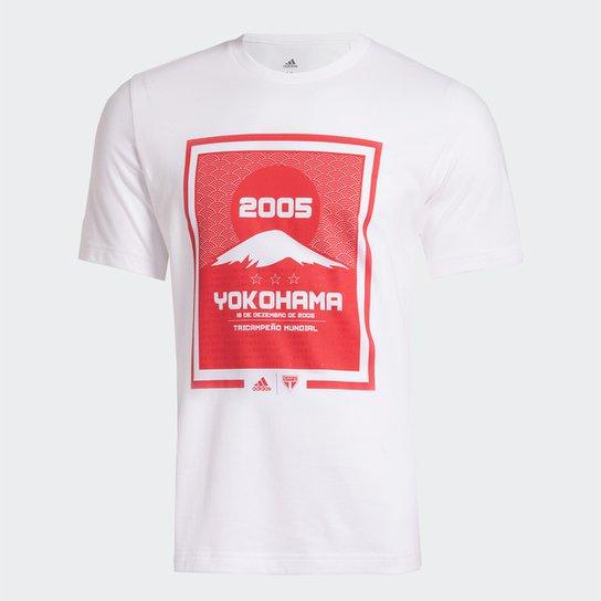 Camiseta São Paulo 2005 Yokohama Adidas Masculina - Branco
