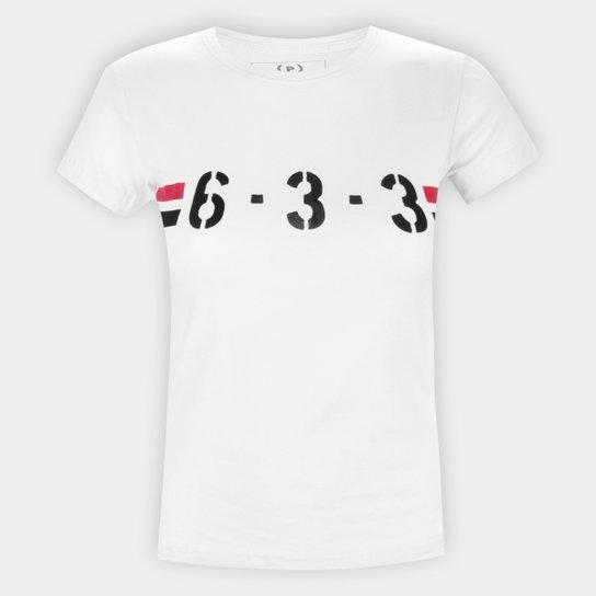 Camiseta São Paulo 6-3-3 Retrô Mania Feminina - Branco