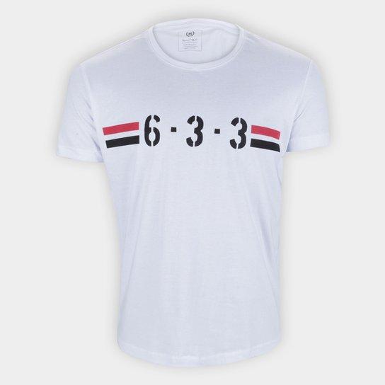 Camiseta São Paulo 6-3-3 Retrô Mania Masculina - Branco