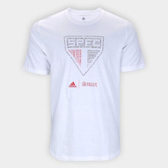 Camiseta São Paulo Adidas Blank Masculina - Branco