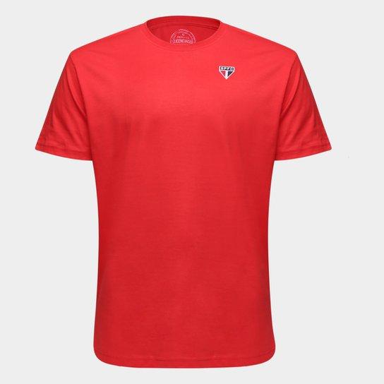 Camiseta São Paulo Básica Masculina - Vermelho