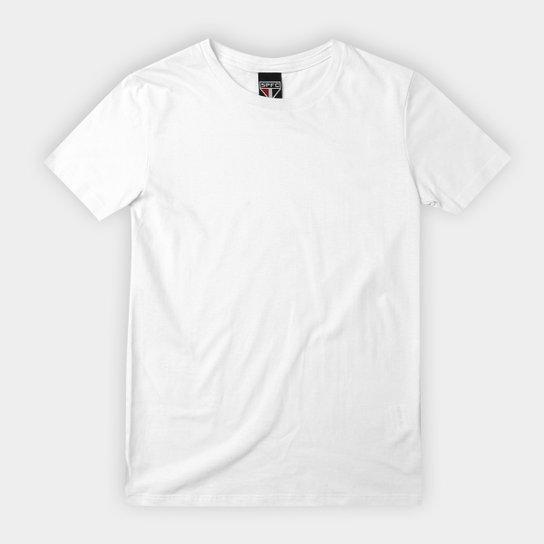Camiseta São Paulo Blank Infantil - Branco