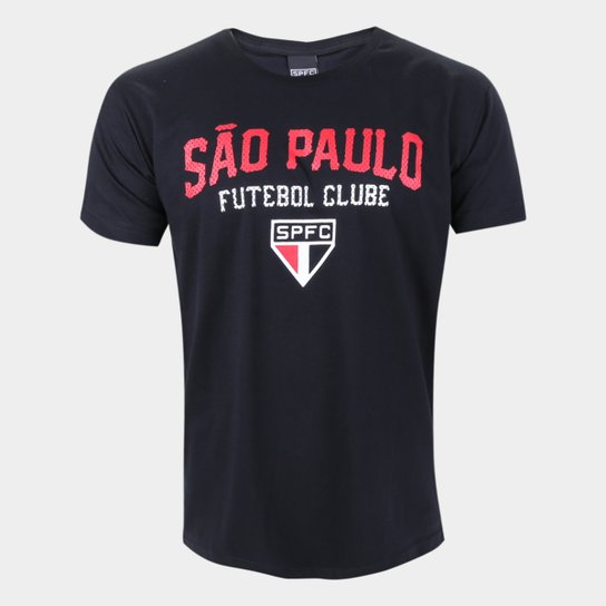 Camiseta São Paulo College Masculina - Preto