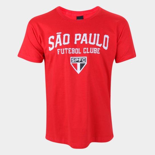 Camiseta São Paulo College Masculina - Vermelho