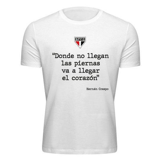 Camiseta São Paulo Corazón Masculina - Branco
