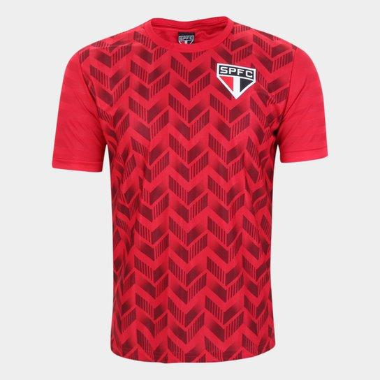 Camiseta São Paulo Efeitos Masculina - Vermelho