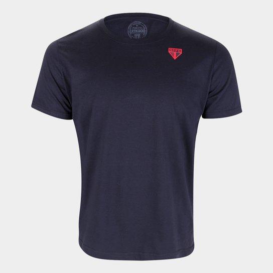 Camiseta São Paulo Emblem Masculina - Preto