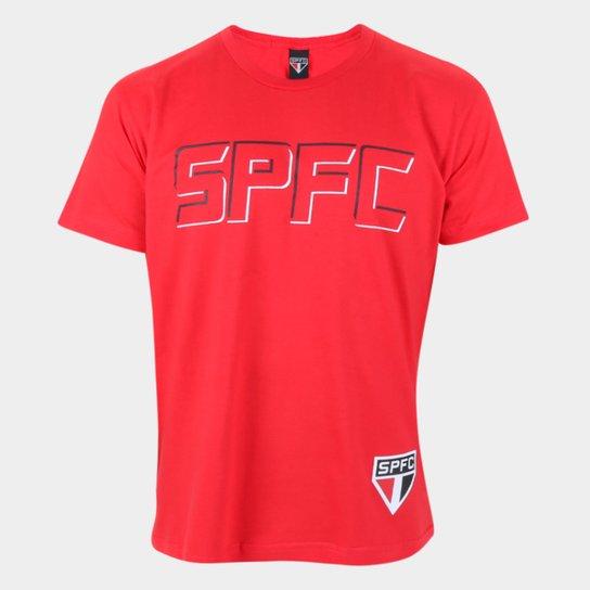 Camiseta São Paulo Fit Masculina - Vermelho