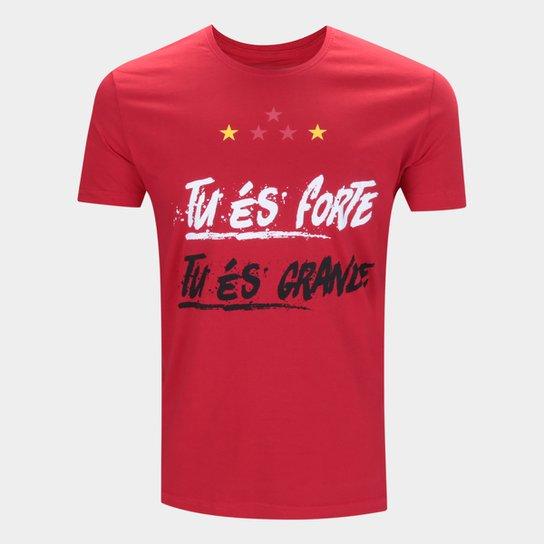 Camiseta São Paulo Frase Retrô Mania Masculina - Vermelho