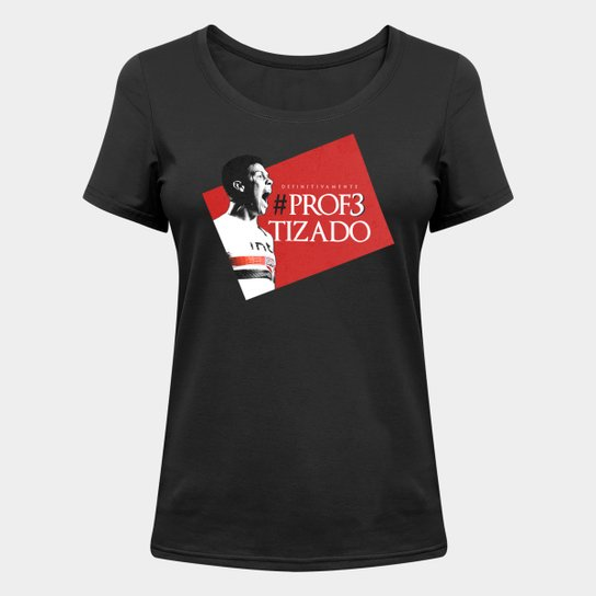 Camiseta São Paulo Hernanes o Profeta - Feminina - Preto