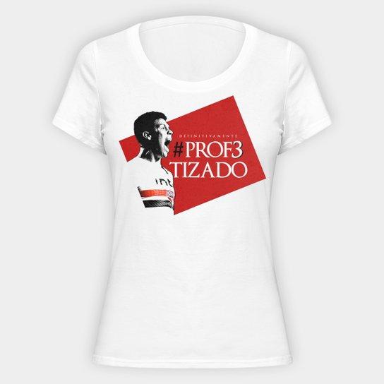 Camiseta São Paulo Hernanes o Profeta - Feminina - Branco