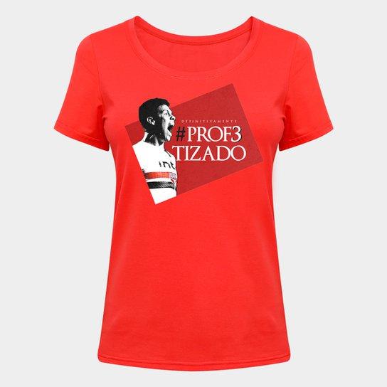 Camiseta São Paulo Hernanes o Profeta - Feminina - Vermelho