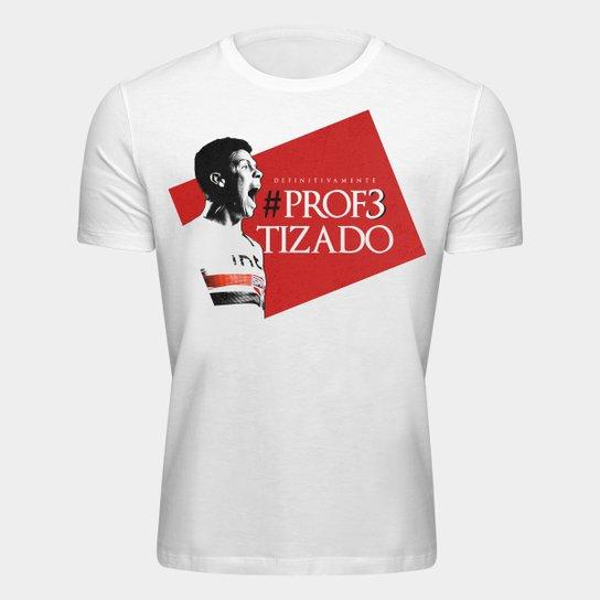 Camiseta São Paulo Hernanes O Profeta - Masculina - Branco