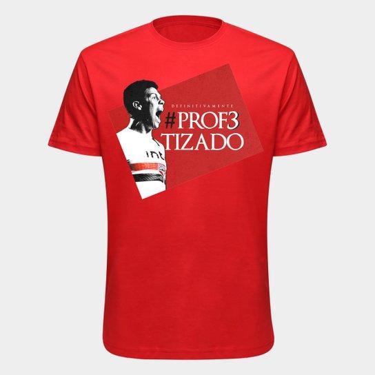 Camiseta São Paulo Hernanes O Profeta - Masculina - Vermelho