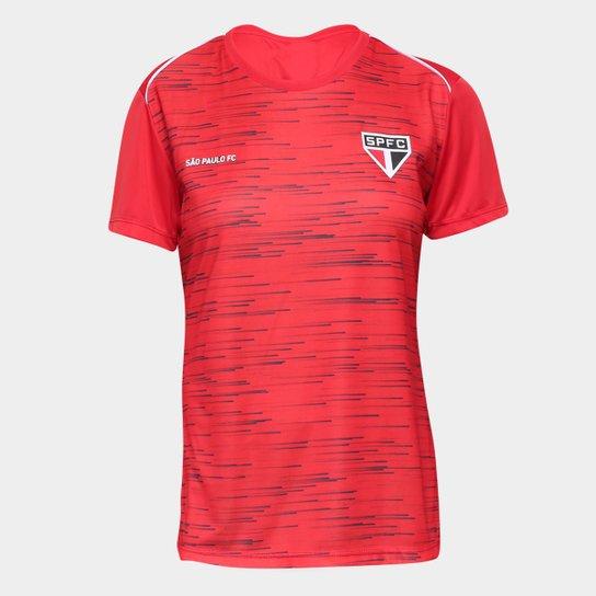 Camiseta São Paulo Hide Feminina - Vermelho