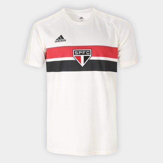 Camiseta São Paulo Icon Adidas Masculina - Off White