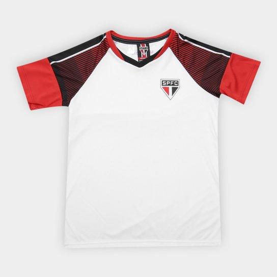 Camiseta São Paulo Infantil Fortune - Branco