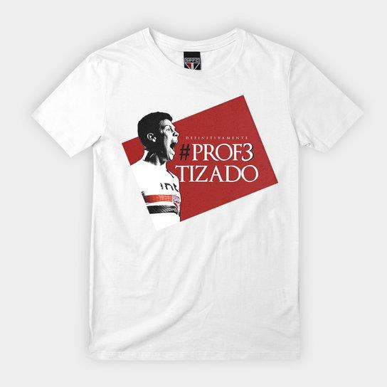 Camiseta São Paulo Infantil Hernanes O Profeta - Branco