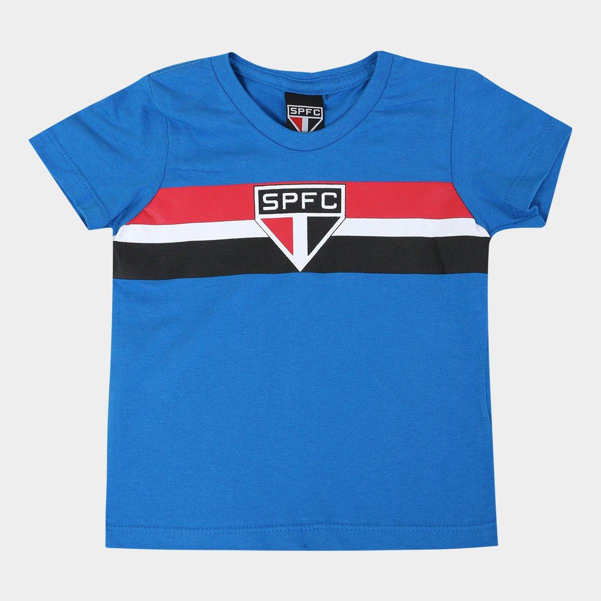 7e4a08e3dd0 Camiseta São Paulo Infantil Tradicional - Azul - Compre Agora