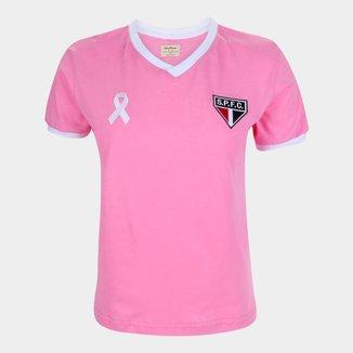 Camiseta São Paulo Juvenil Retrô Mania Outubro Rosa