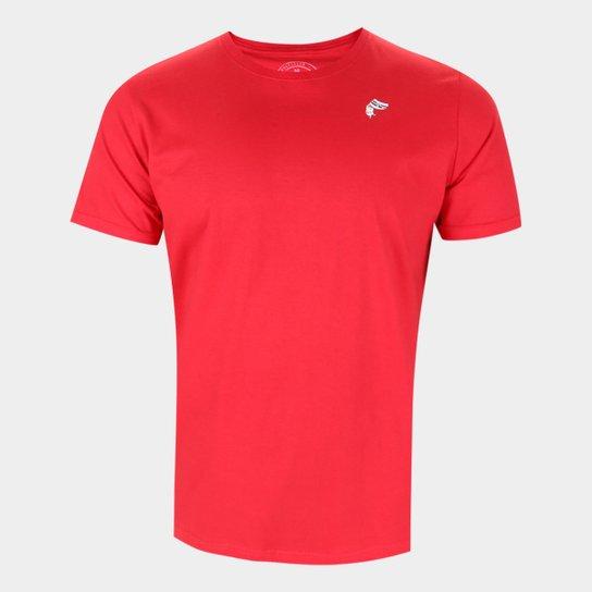 Camiseta São Paulo Logo Mascote Masculina - Vermelho