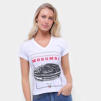 Camiseta São Paulo Morumbi Retrô Mania Feminina