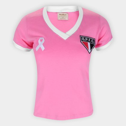 Camiseta São Paulo Outubro Rosa Retrô Mania Feminina