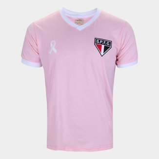 Camiseta São Paulo Retrô Mania Outubro Rosa Masculina