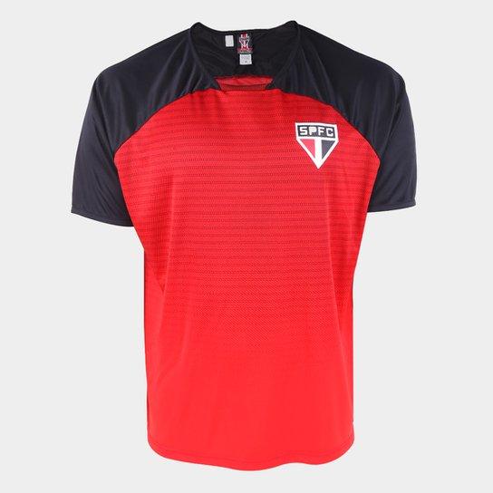 Camiseta São Paulo Shadow Masculina - Vermelho+Preto