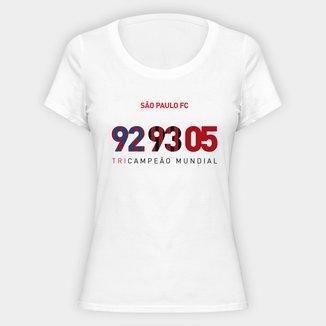 Camiseta São Paulo Tri Mundial Feminina