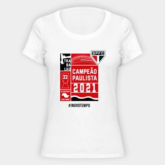 Camiseta SPFC Campeão Paulista 2021  Feminina