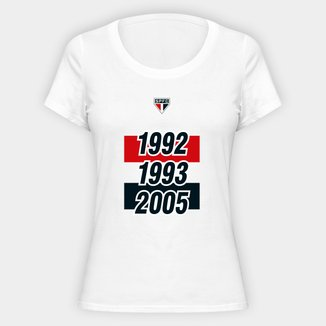 Camiseta SPFC Tri 92 93 05 Feminina