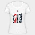 Camiseta SPFC Tri Campeão Glória Eterna Feminina