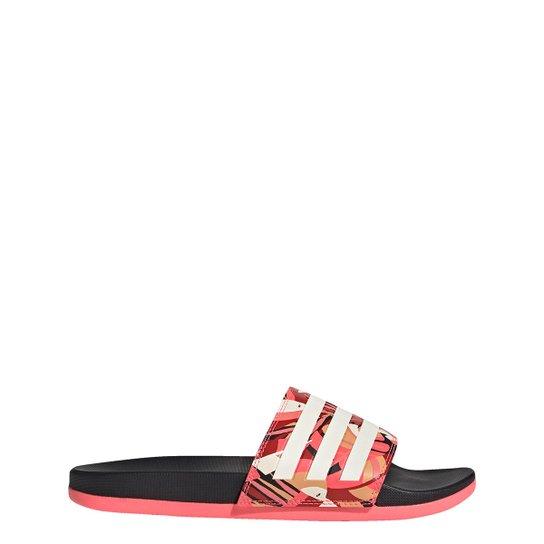 Chinelo Slide Adidas Farm Adi Comfort Feminino - Preto+Rosa