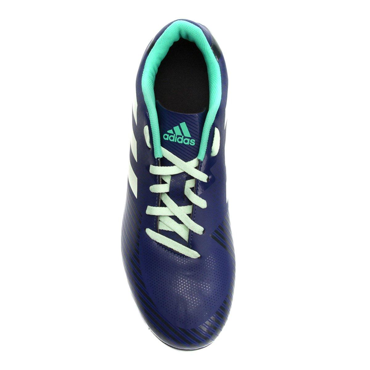 17bb7c8897 Chuteira Campo Adidas Artilheira 18 FXG - Azul e Verde - Compre ...