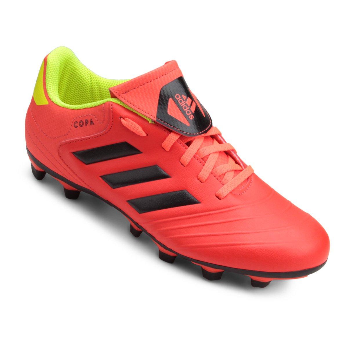 Chuteira Campo Adidas Copa 18 4 FG - Vermelho e Preto - Compre Agora ... f83615620fd3b