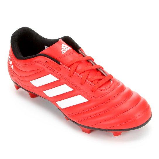 Chuteira Campo Adidas Copa 20 4 FG - Vermelho+Branco