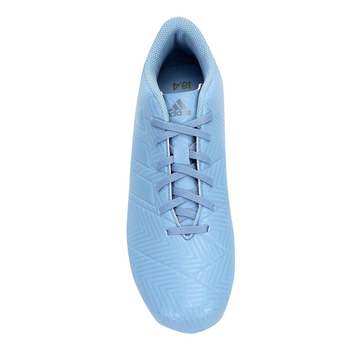 3334483a25 Chuteira Campo Adidas Nemeziz Messi 18 4 FG - Azul - Compre Agora ...