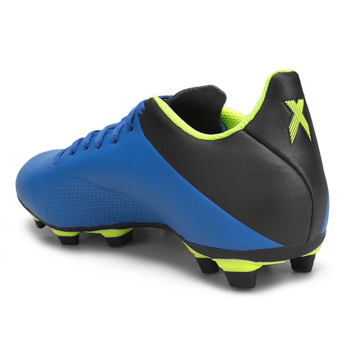 0db626d950 chuteira campo adidas x 18 1 fg masculina azul amarelo on wholesale ...