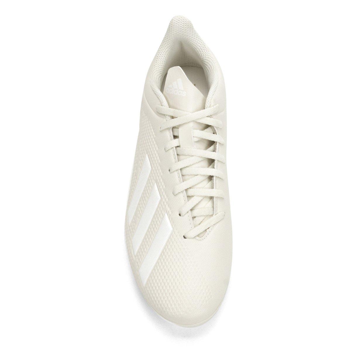 81ab5ebeb4 Chuteira Campo Adidas X 18 4 FG - Branco - Compre Agora