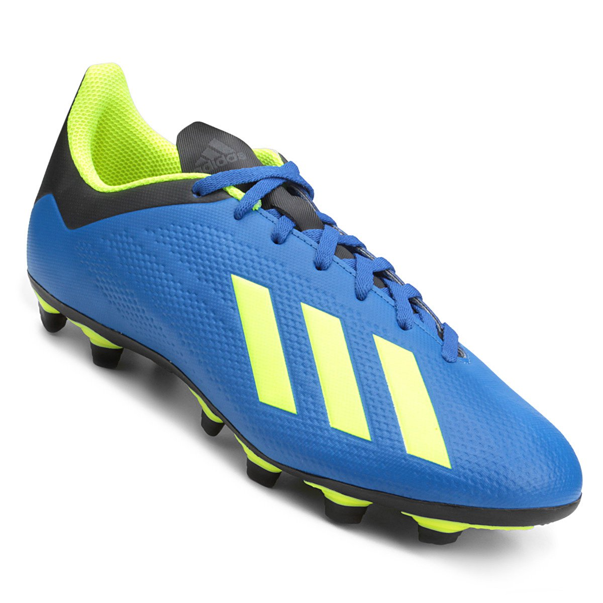 8b4bc8cd2f Chuteira Campo Adidas X 18 4 FG - Azul e amarelo - Compre Agora ...