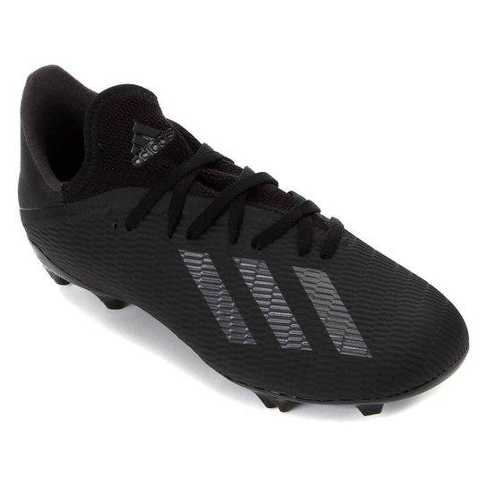 Chuteira Campo Adidas X 19 3 FG - Preto+Prata