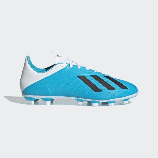 Chuteira Campo Adidas X 19 4 FG - Azul
