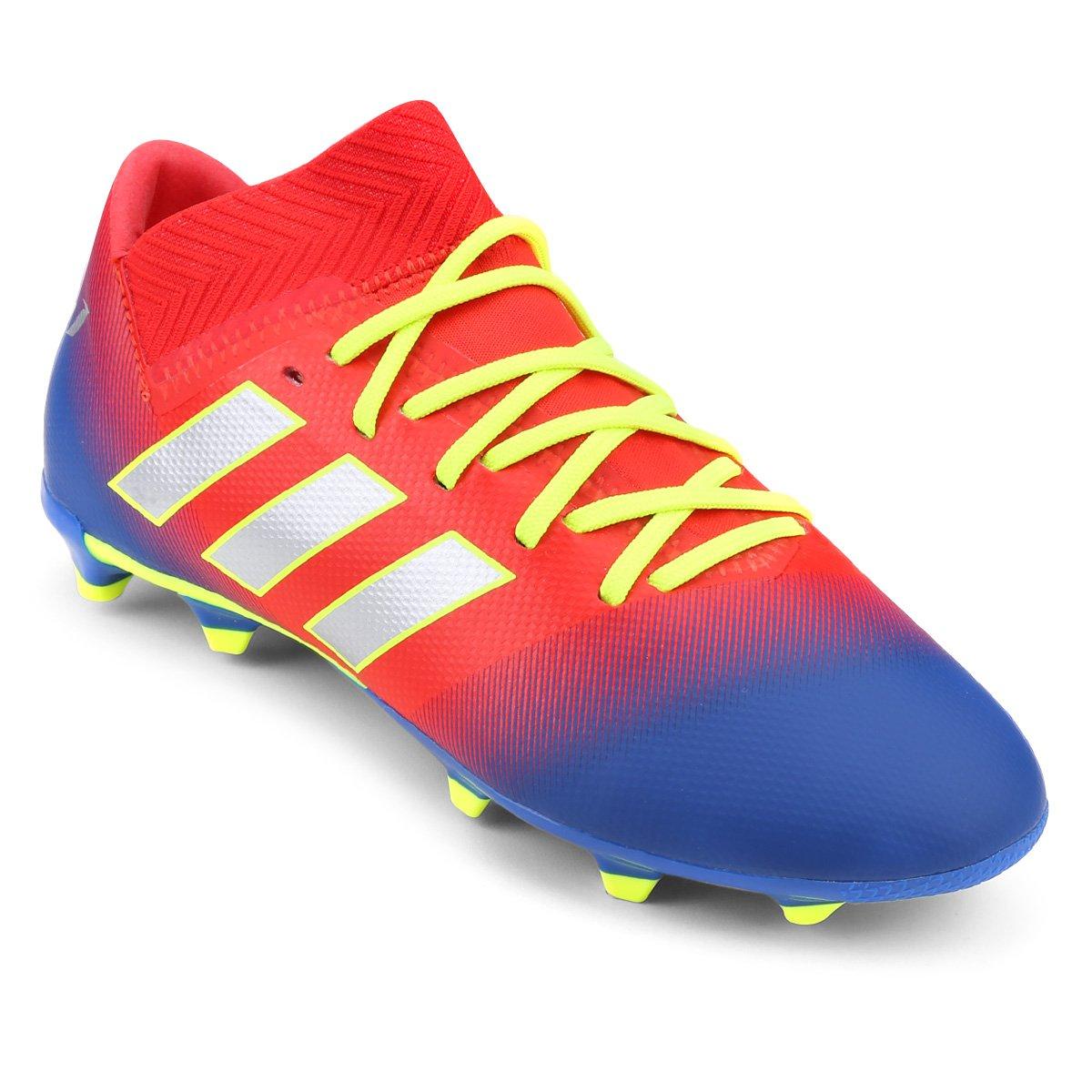 44240af290 Chuteira Campo Infantil Adidas Nemeziz Messi 18 3 FG - Vermelho e ...