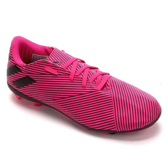 Chuteira Campo Juvenil Adidas Nemeziz 19 4 FG - Pink+Preto
