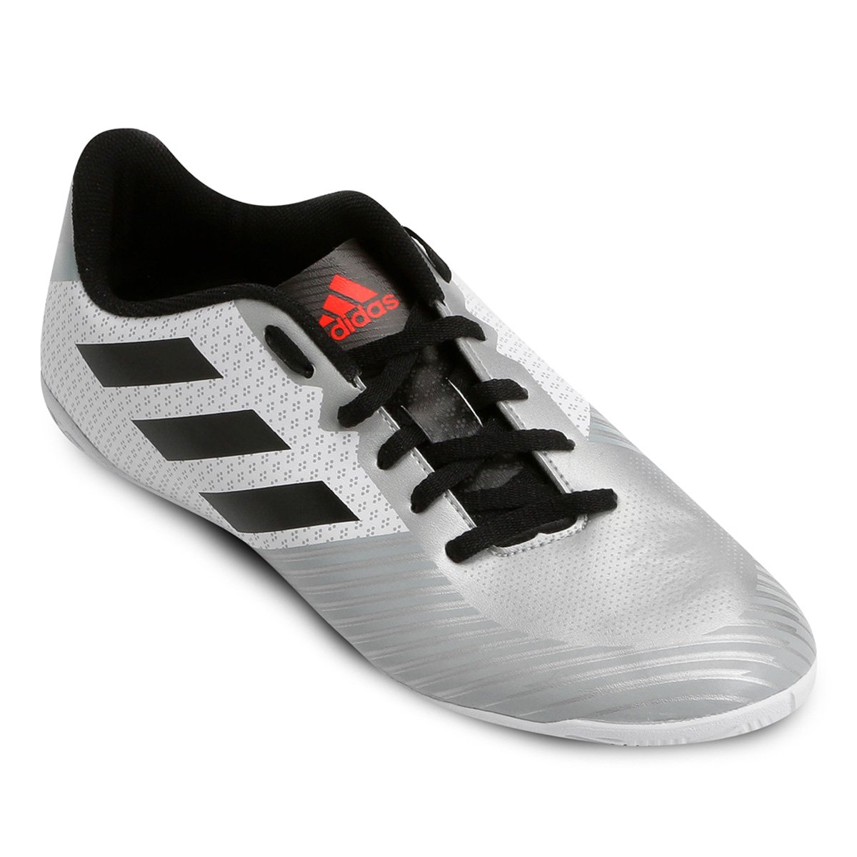 Chuteira Futsal Adidas Artilheira 18 IN - Branco e Preto - Compre ... 2837ec70a0bb5