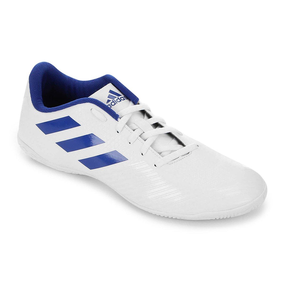 86b6ccf8e7 Chuteira Futsal Adidas Artilheira III IN - Branco e Azul