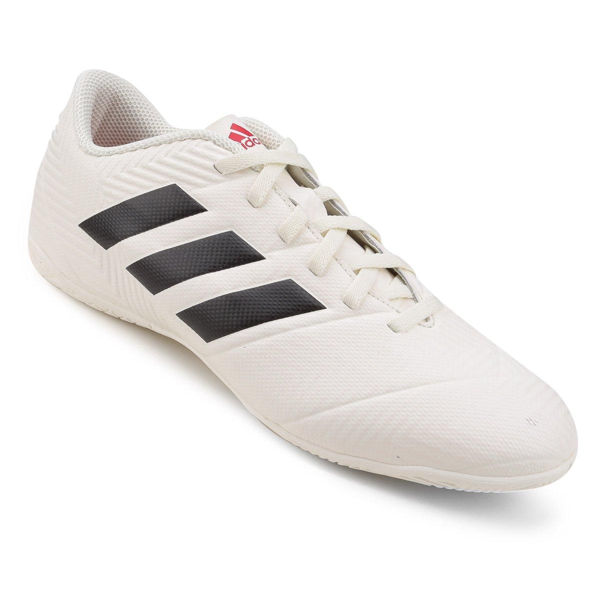 Chuteira Futsal Adidas Nemeziz 18 4 In - Branco e Vermelho - Compre ... f997a5a419223